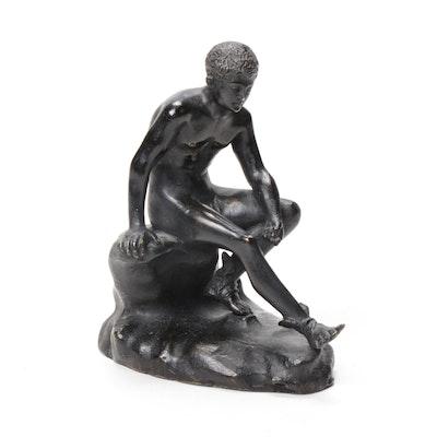 Bronze Figure of Seated Hermes
