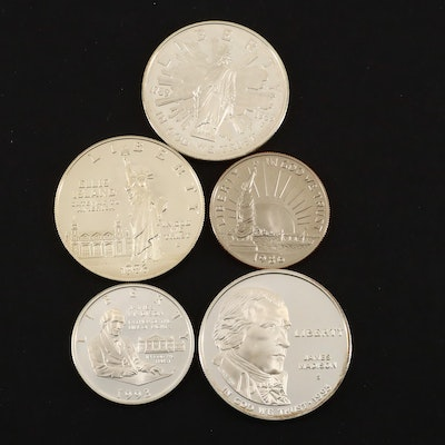 Commemorative Coin Group Including a 1993-S Bill of Rights Proof Coin Set