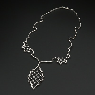 "Stefan Hafner ""Scheherazade"" Collection 18K White Gold 3.03 CTW Diamond Necklace"