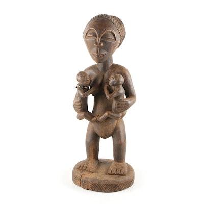 Decorative Wooden Luba Style Sculpture