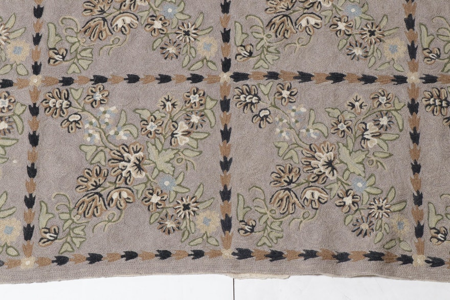 3'10 X 15'4 Handmade Indian Chain Stitch Carpet Runner