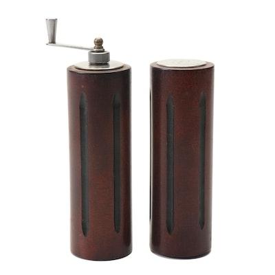 Wooden Salt Shaker and Pepper Grinder
