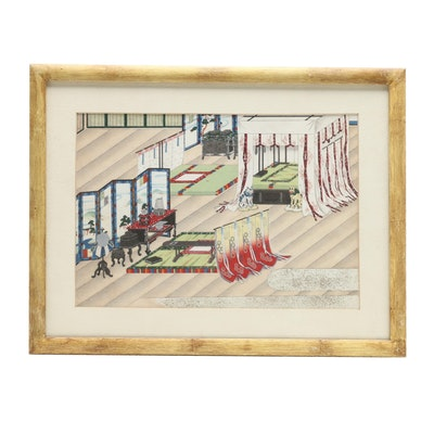 Japanese Ukiyo-e Woodblock Print