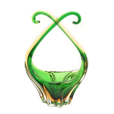 J.I Co. Venetian Glass Centerpiece