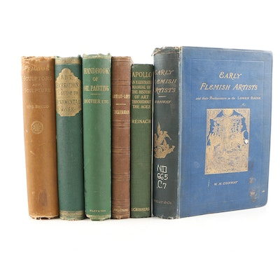 """Art Books featuring 1887 """"Early Flemish Artists"""" by William Martin Conway"""
