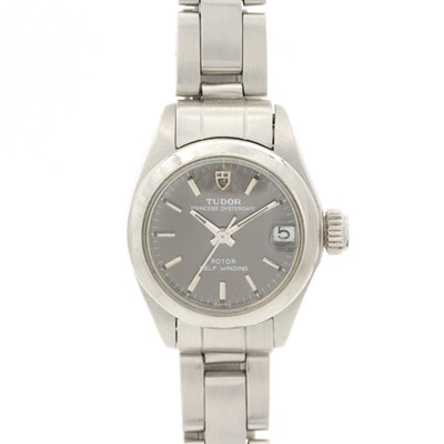 Vintage Tudor Princess Oyster Date Stainless Steel Automatic Wristwatch, 1976