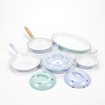 Vintage Enamelled Cookware from DAK, Made in Holland