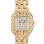 14K Yellow Gold and 3.56 CTW Diamonds Quartz Wristwatch