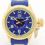 Invicta Russian Diver Gold Tone Quartz Wristwatch