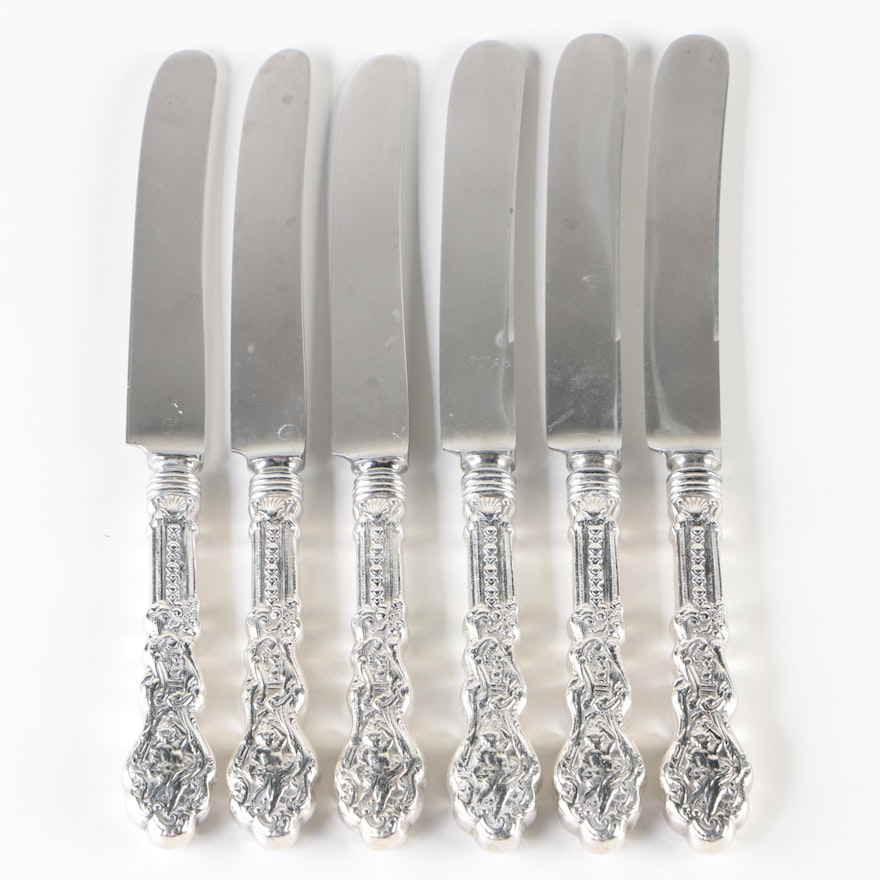 "Gorham ""Versailles"" Sterling Handled Blunt Dinner Knives, Late 19th Century"