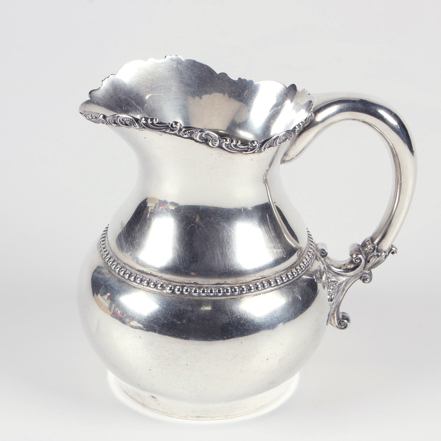 Duhme & Co. Sterling Silver Pitcher, Circa 1870s
