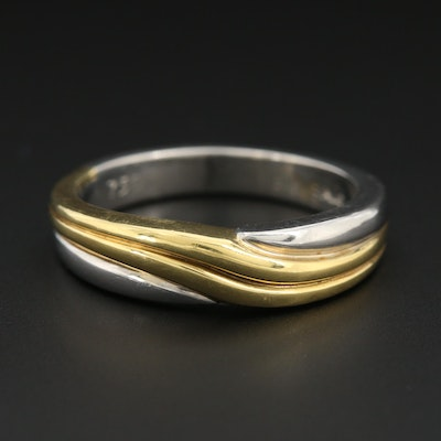 Platinum Band with 18K Yellow Gold Accents