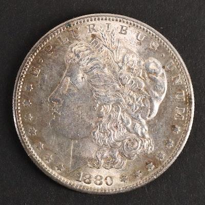 An 1880-S Morgan Silver Dollar