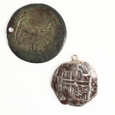 Two Spanish Colonial Silver Coins