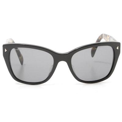 Prada Black and Tortoise Shell Sunglasses, Made in Italy