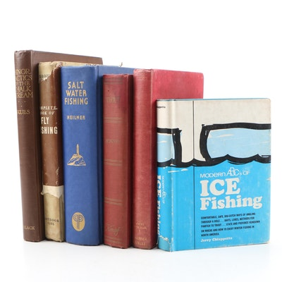 "Fishing Books featuring 1966 ""Modern ABC's of Ice Fishing"" by Jerry Chiappetta"