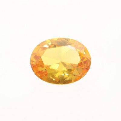 Loose 11.20 CT Yellow Sapphire Gemstone