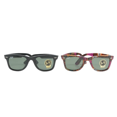 Ray-Ban Wayfarer 2140 Sunglasses Including Special Series #7 with Cases