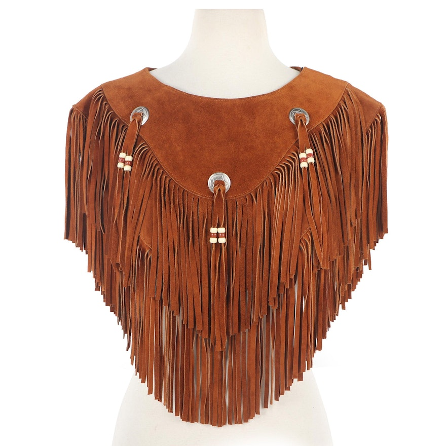 Women's Fringed Suede Jacket and Poncho