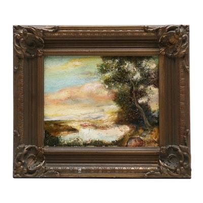 J. Lieber Landscape Oil Painting