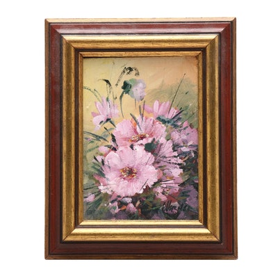 Betty Werner Floral Acrylic Painting