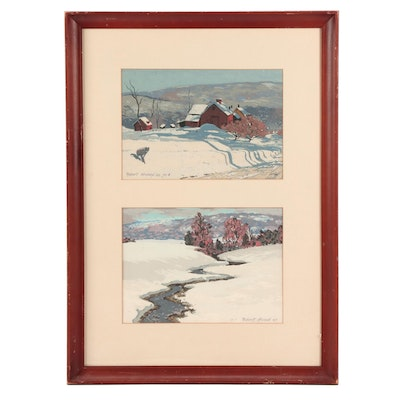 Robert Atwood Mid Century Landscape Serigraphs