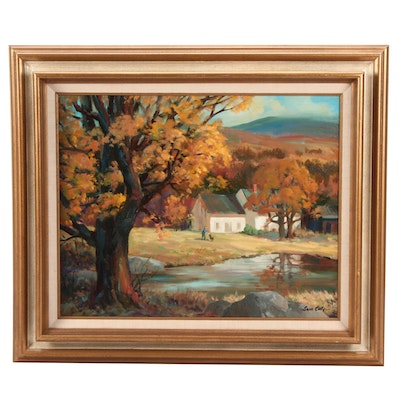 Sam Coty Landscape Oil Painting