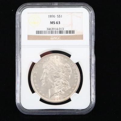 NGC Graded MS63 1896 Morgan Silver Dollar