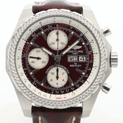 Breitling For Bentley GT Stainless Steel Automatic Chronograph Wristwatch