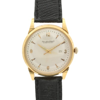 18K Gold International Watch Co. Automatic Wristwatch With Date