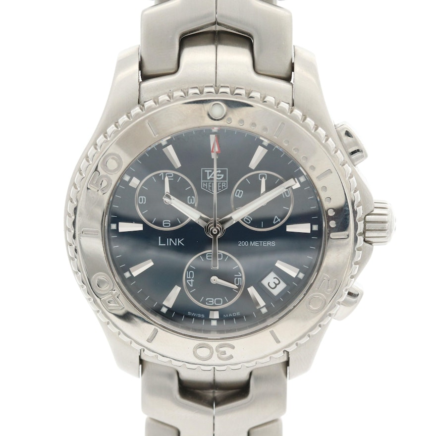 TAG Heuer Link Stainless Steel Quartz Chronograph Wristwatch