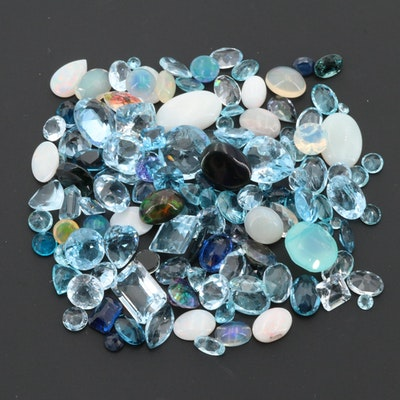 Loose 80.47 CTW Gemstones with Opal and Topaz