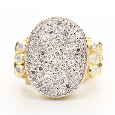 14K Yellow Gold 1.28 CTW Diamond Pavé Ring
