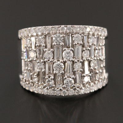 18K White Gold 1.96 CTW Diamond Ring