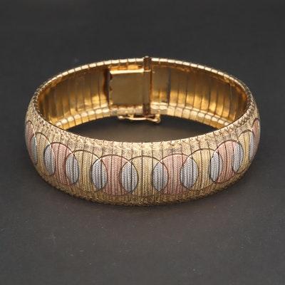 Sterling Silver Tri-Tone Bracelet