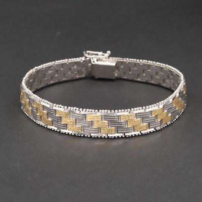 Sterling Silver Two-Tone Bracelet