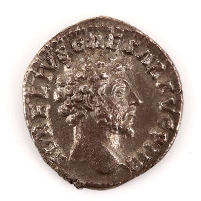 Ancient Roman Marcus Aurelius Silver Denarius, Circa 160 AD