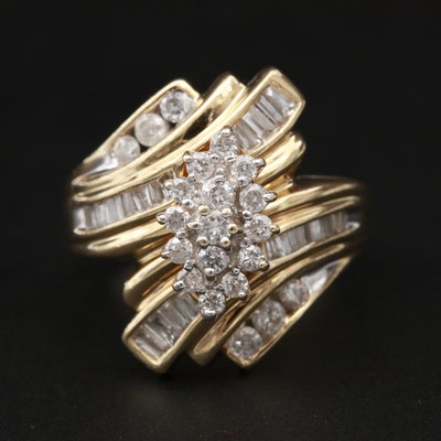 14K Yellow Gold 1.21 CTW Diamond Ring