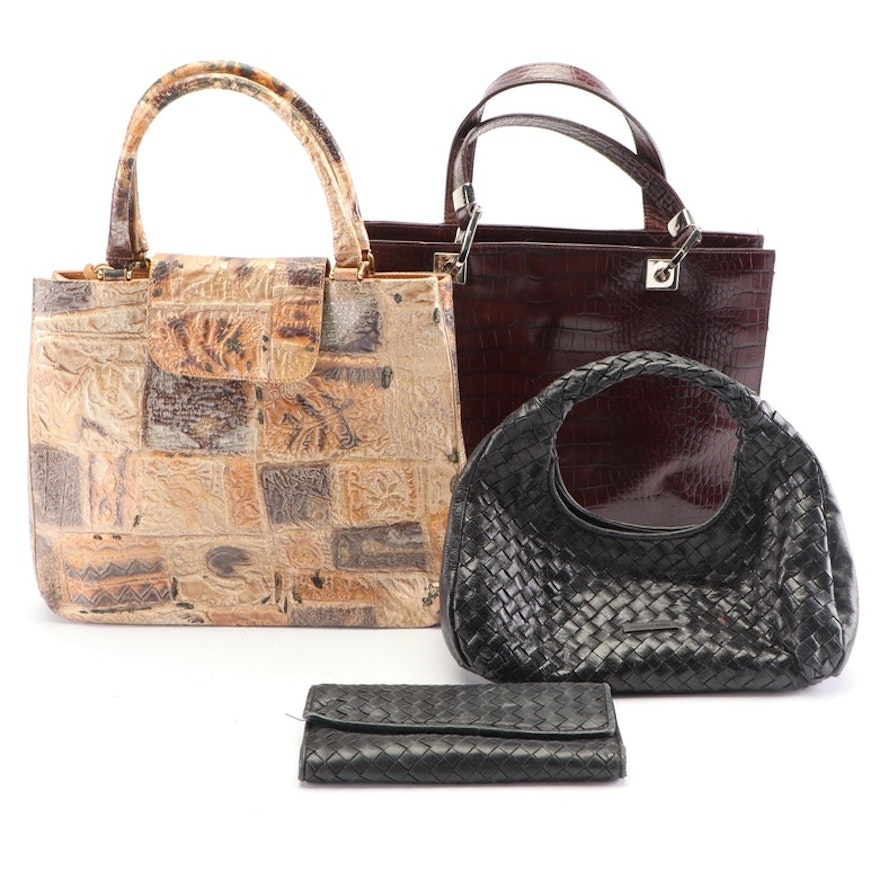 Collection of Leather Handbags, Vintage