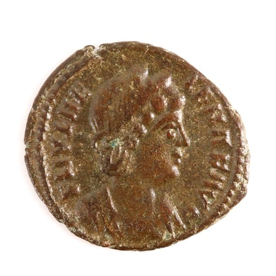 Ancient Roman AE4 coin of Helena, mother of Constantine the Great, ca. 324 A.D.