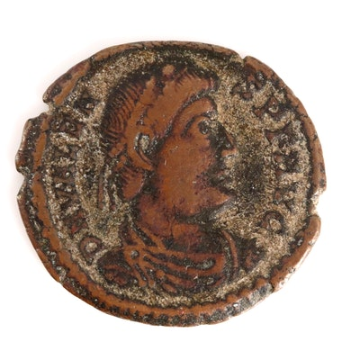 Ancient Roman Valens AE3 Coin, Circa 364-368 AD