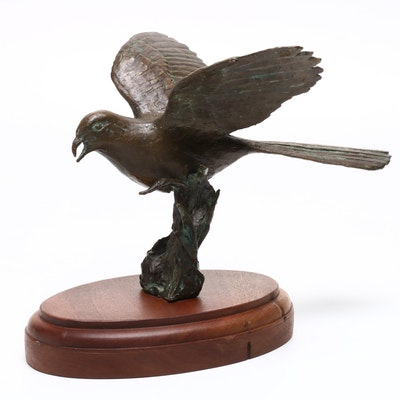 Copper Alloy Bird Sculpture