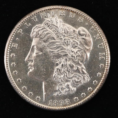 An 1898-S Morgan Silver Dollar