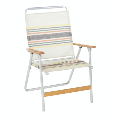 Wood and Aluminum Folding Chair by Telescope Folding Furniture Co