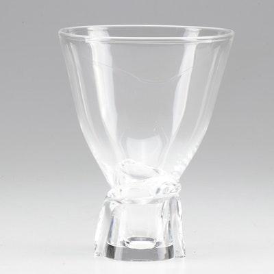 """Steuben Art Glass """"Spiral"""" Vase Designed by Donald Pollard, Mid-Century"""