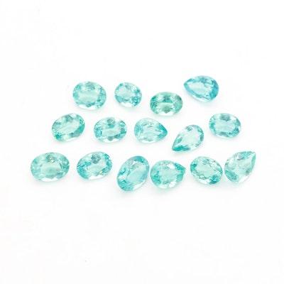 Loose 10.40 CTW Apatite Gemstones