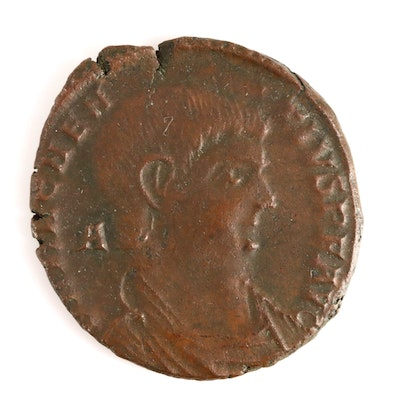 Ancient Roman Imperial AE2 Coin of Magnentius, ca. 353 A.D.