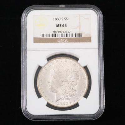 NGC Graded MS63 1880-S Morgan Silver Dollar
