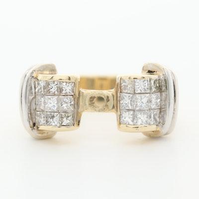 14K Yellow Gold Diamond Ring Mounting