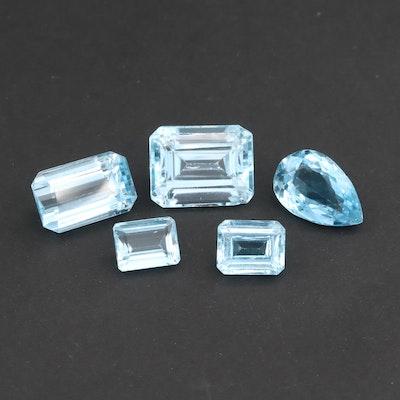 Loose 48.60 CTW Blue Topaz Gemstones